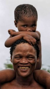 Man and Child - TUCSIN Tsumkwe Lodge